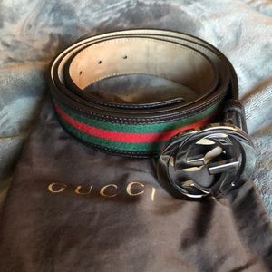 GUCCI MENS Belt authentic engraved serial number